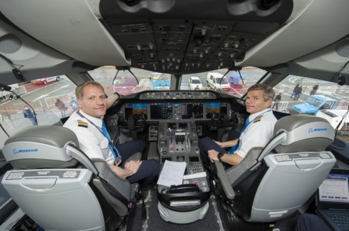 piloten in cockpit